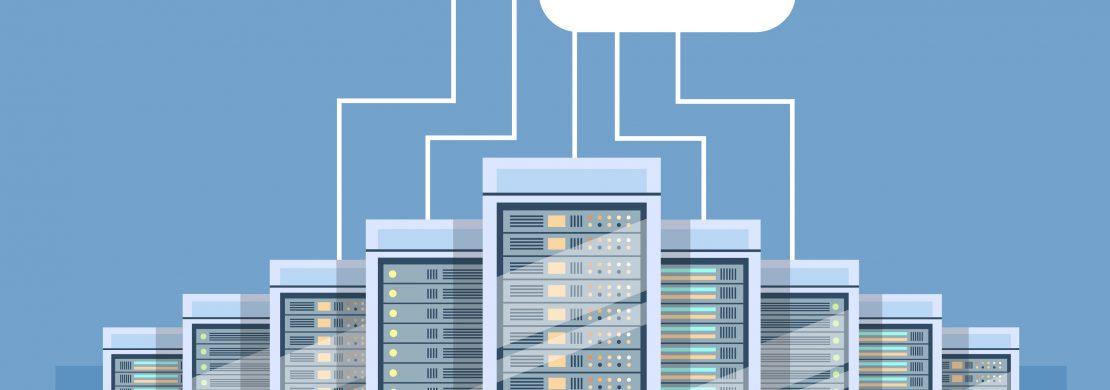 Sistema hibrido, com racks de data center e cloud