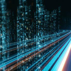alta conectividade um corredor simulando a passagem da fibra ótica