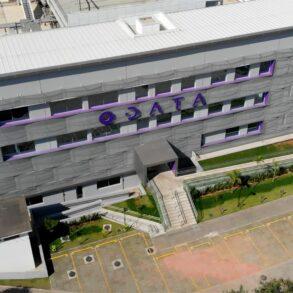 Data Center ODATA, vista externa aérea